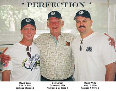 David Cone, Don Larsen and David Wells